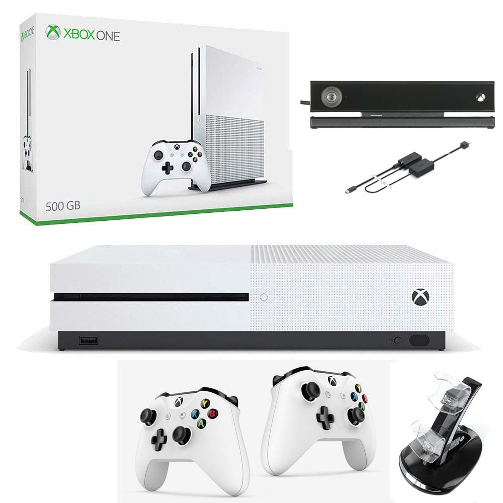 konsola xbox one s 500 gb kinect 2 pady adowarka. Black Bedroom Furniture Sets. Home Design Ideas