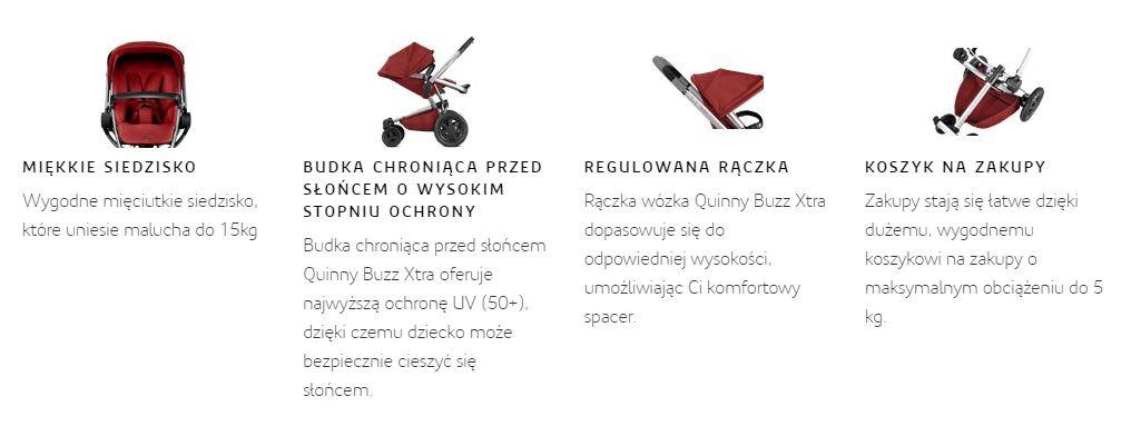 główne cechy wózka quinny buzz xtra