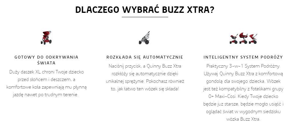 dlaczego warto wybrać wózek quinny buzz xtra