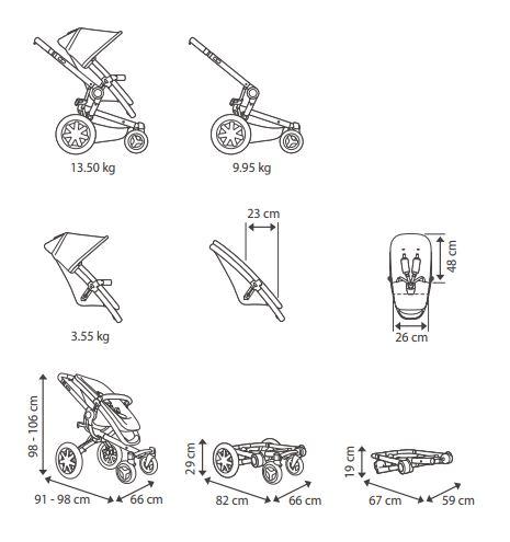 wymiary wózka quinny buzz xtra