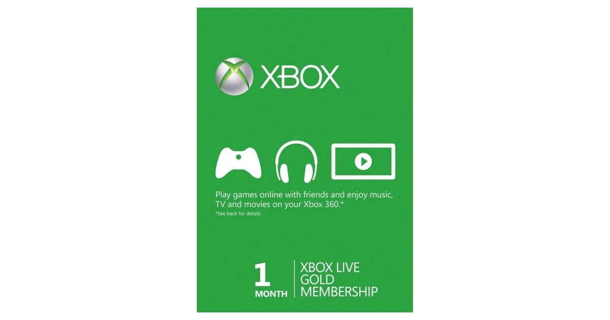 Karta Xbox Live.Xbox Live Gold 1 Miesiac Abonament Szybka Wysylka Sklep