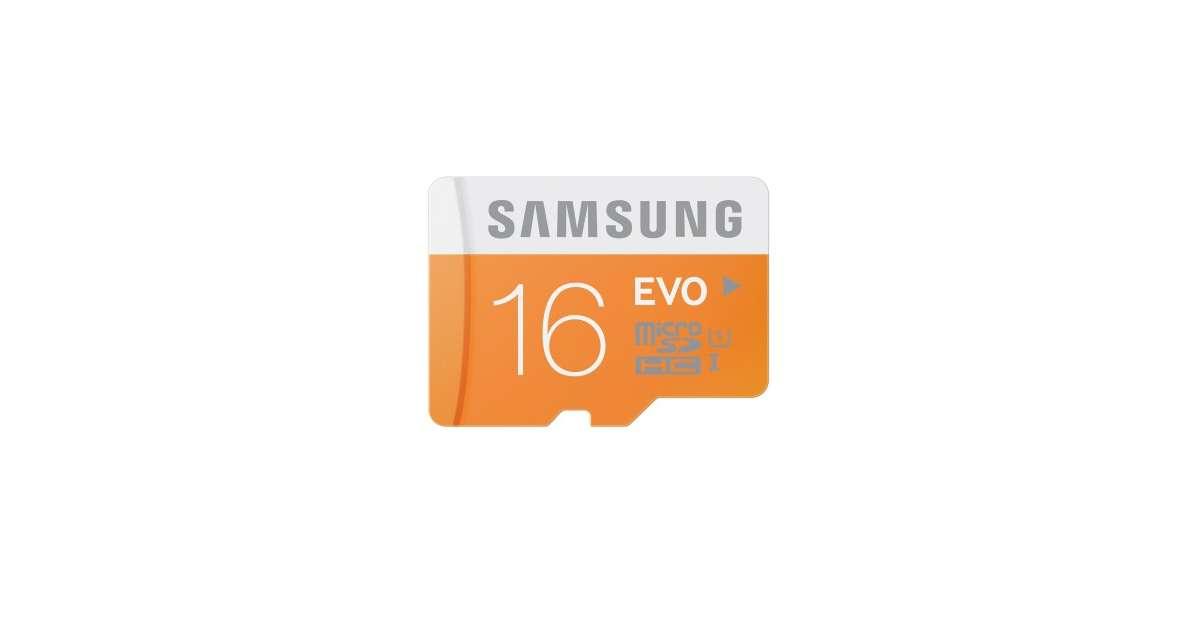 Karta Micro Sdhc 16gb Samsung Evo Adapter