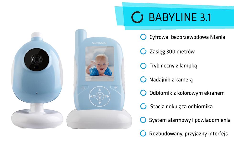 Niania Babyline 3.1 funkcje
