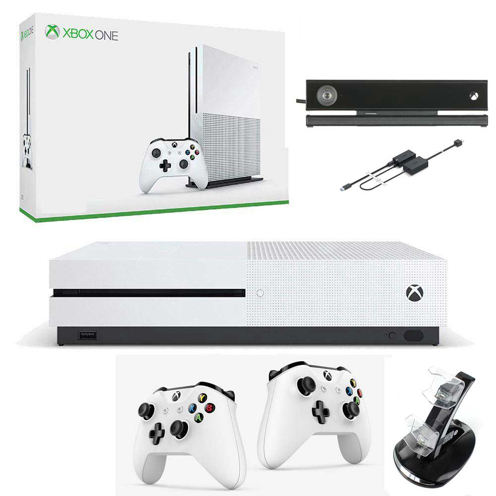 Xbox One S + 2 pady + Kinect