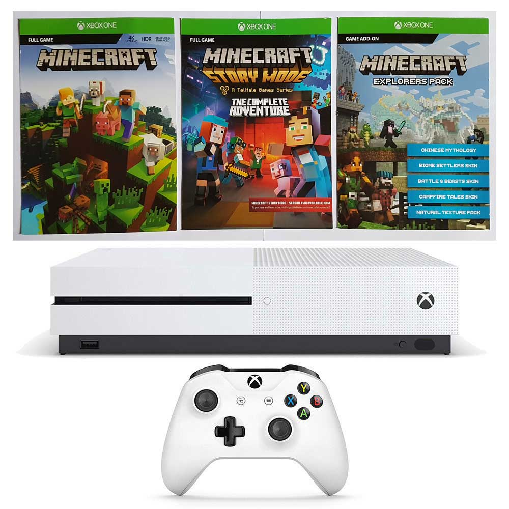 konsola xbox one s 1tb minecraft pack sklep cena opinie. Black Bedroom Furniture Sets. Home Design Ideas